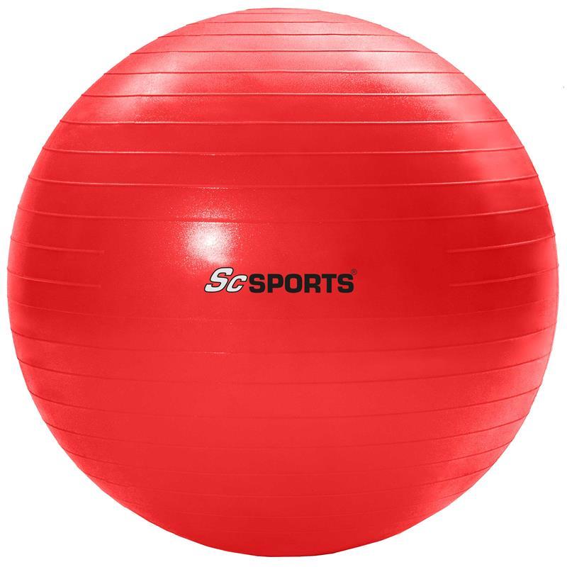 Gymnastikball Sitzball 55 cm rot
