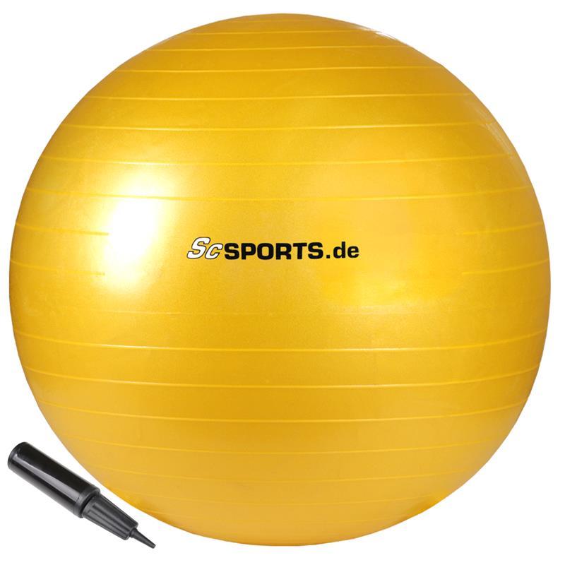 Gymnastikball 65 cm gelb
