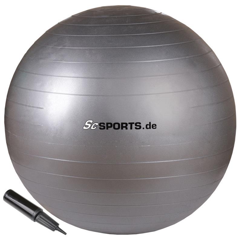 Gymnastikball 65 cm grau
