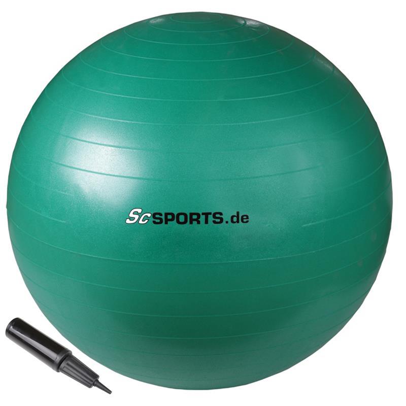 Gymnastikball 65 cm grün
