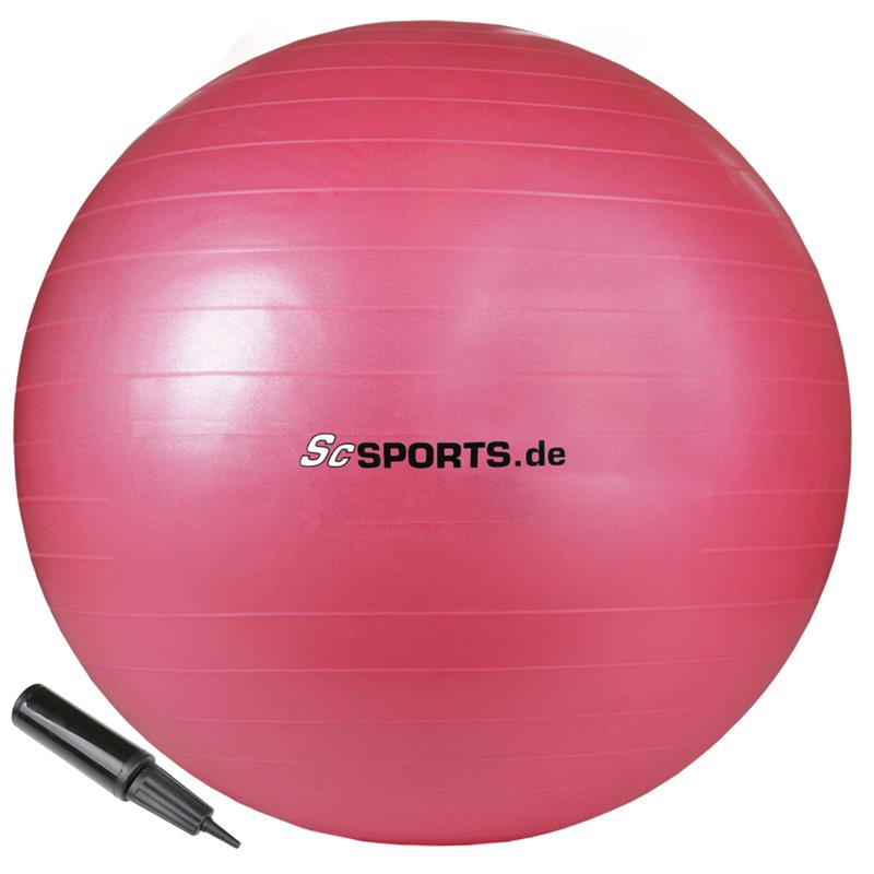 Gymnastikball 65 cm pink