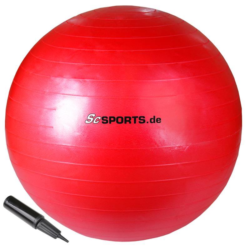 Gymnastikball 65 cm rot