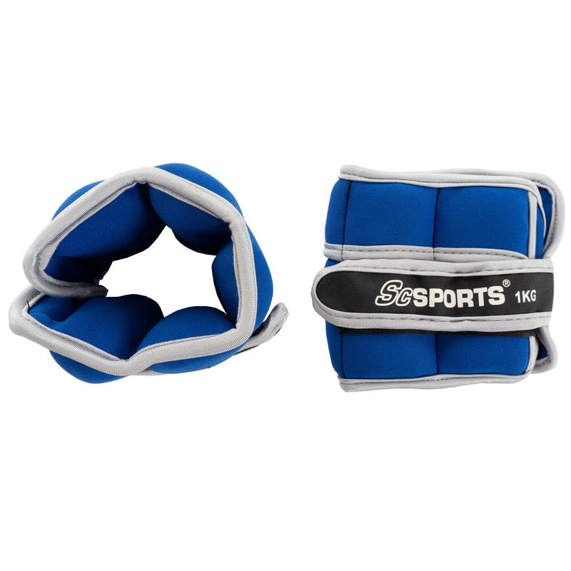 Gewichtsmanschetten 2 x 1 kg blau