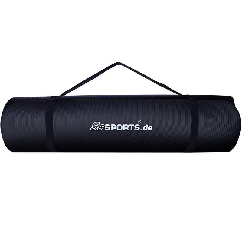 Gymnastikmatte Sportmatte 190 x 80 x 1,5 cm schwarz
