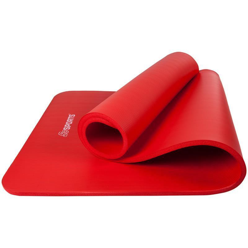Gymnastikmatte Sportmatte mit Tragegurt 185 x 60 x 1 cm rot
