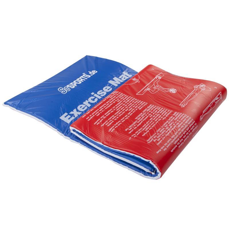 Gymnastikmatte Sportmatte faltbar 177 x 60 x 2 cm rot/blau