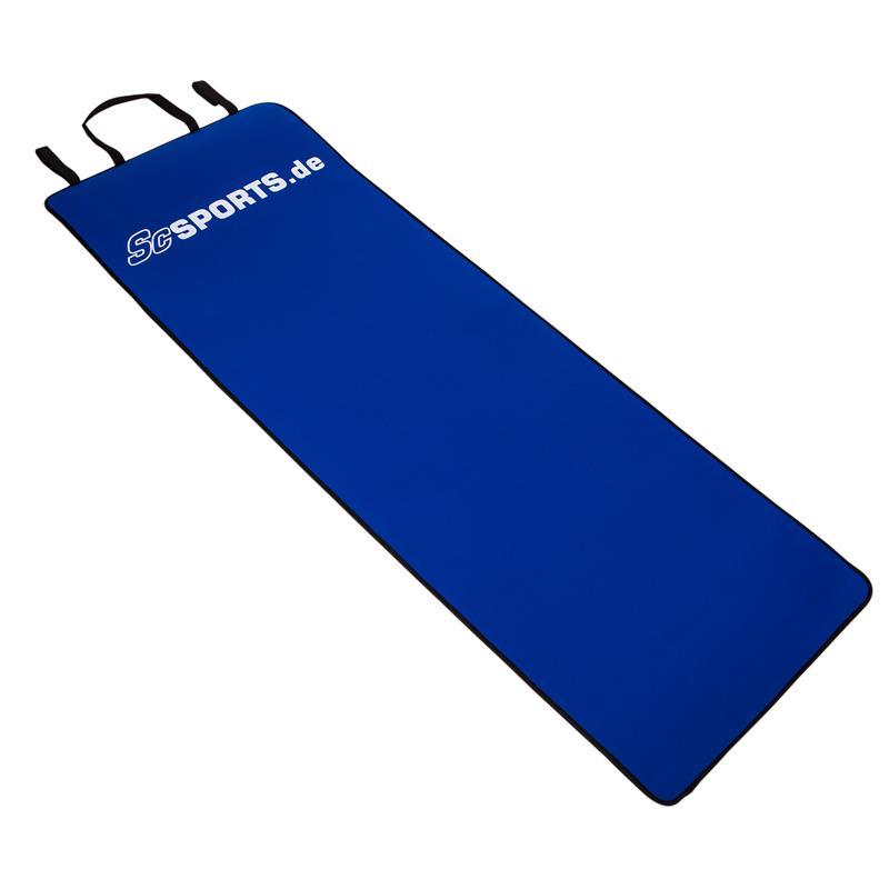 Yogamatte mit Tragegurt 180 x 60 x 0,6 cm blau