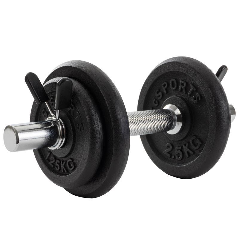 10 kg Kurzhantelset Gusseisen 2x1,25 2x2,5 kg
