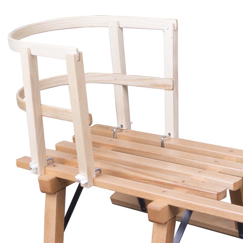Holzschlitten Davos 80 cm + Schlittenlehne