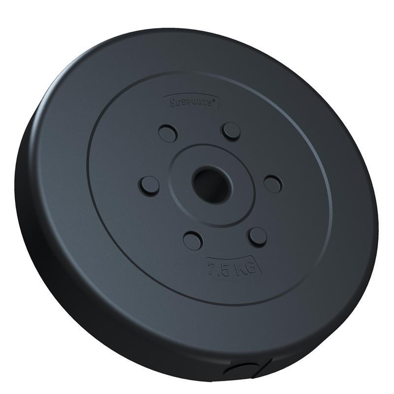 30 kg Langhantelset Kunststoff 2x2,5 2x5 2x7,5 kg mit Gewinde