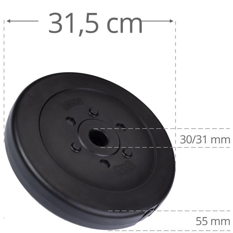 10 kg Hantelscheibe Kunststoff Ø 30 mm