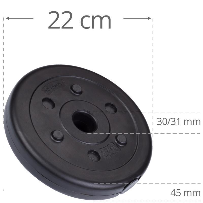 2,5 kg Hantelscheibe Kunststoff Ø 30 mm
