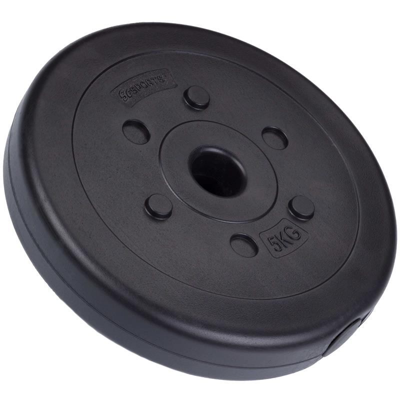 45 kg Hantelscheibenset Kunststoff 2x10 kg 2x7,5 kg 2x5 kg Ø 30 mm