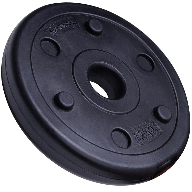 10 kg Hantelscheibenset Kunststoff 30 mm 8x1,25 kg