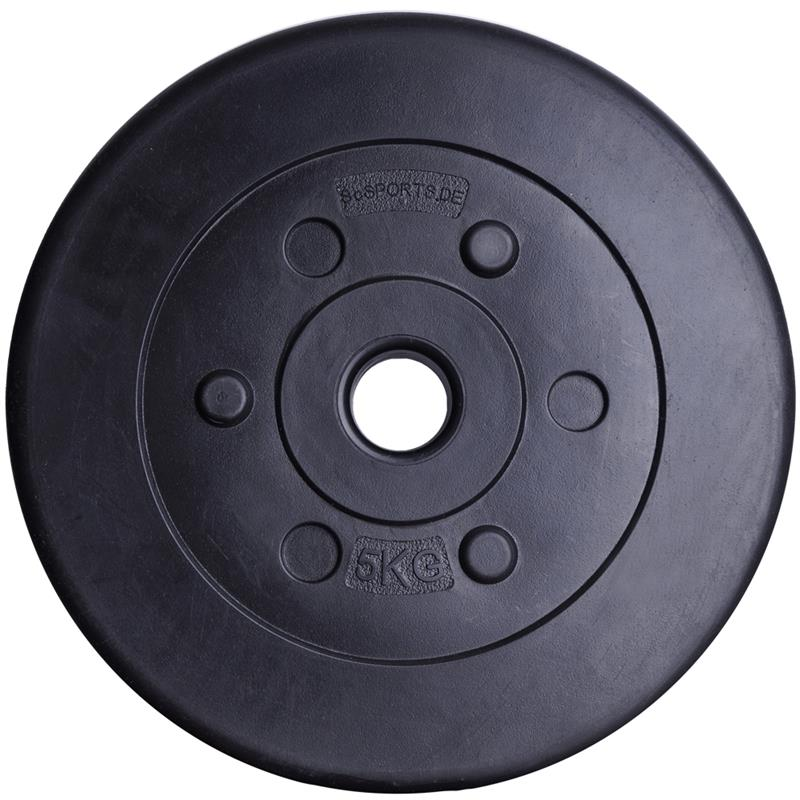 27,5 kg Hantelscheibenset Kunststoff 30 mm 6x1,25 4x2,5 2x5 kg