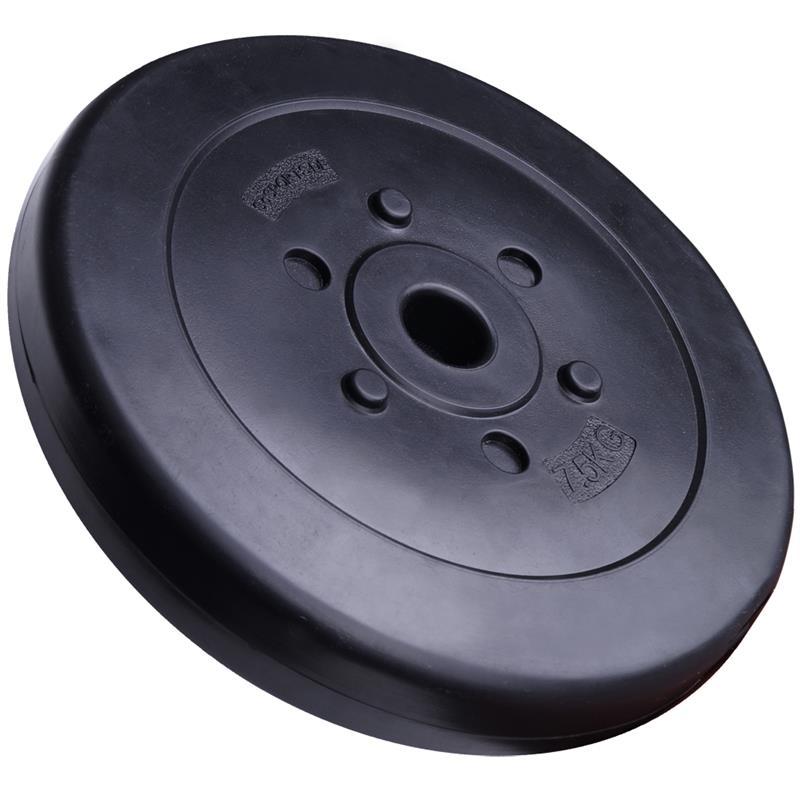 15 kg Hantelscheibenset Kunststoff 30 mm 2x7,5 kg