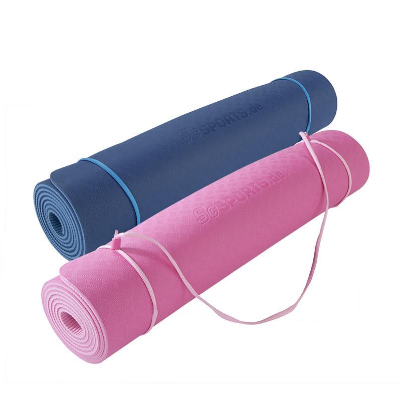 Yogamatte mit Tragegurt 183 x 60 x 0,6 cm ECO