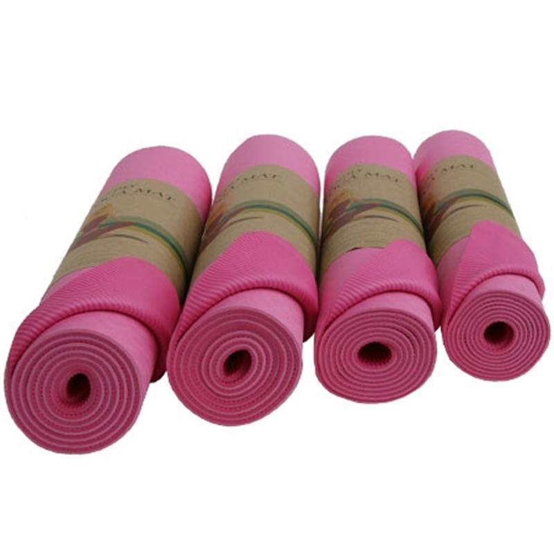Yogamatte mit Tragegurt 183 x 60 x 0,6 cm pink