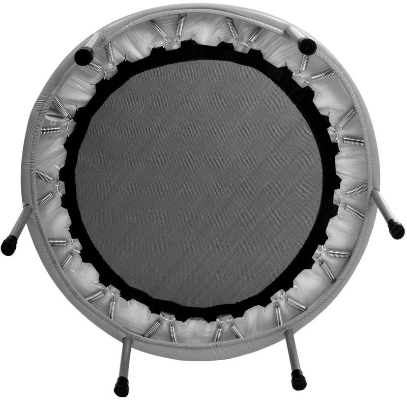 Trampolin Fitness-Trampolin Minitrampolin Ø 101 cm silber