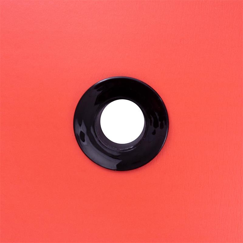 Gymnastikmatte Sportmatte 185 x 80 x 1,5 cm rot mit Ösen
