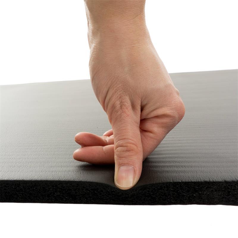 Fitnessmat Sportmat zwart 190 x 80 x 1,5 cm