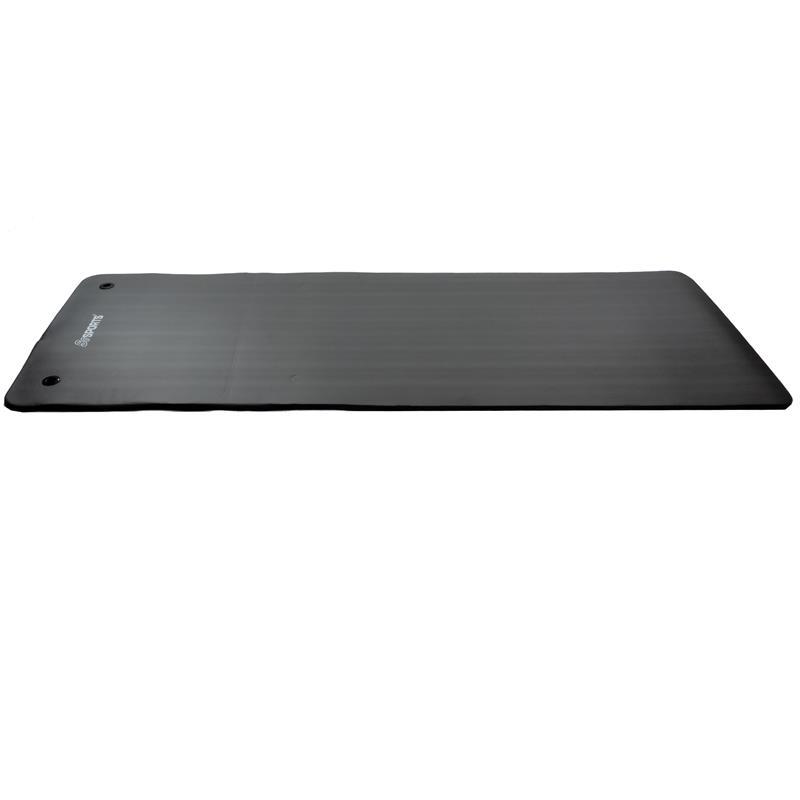 Gymnastikmatte Sportmatte 185 x 80 x 1,5 cm schwarz mit Ösen