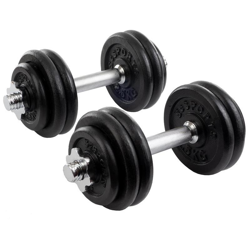 30 kg Kurzhantelset Gusseisen 4x1,25 8x2,5 kg