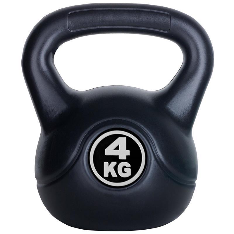4 kg Kettlebell mit Zementfüllung - Fight Dog Logo
