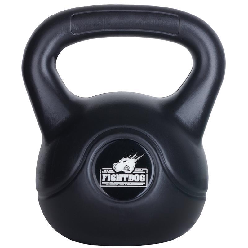 8 kg Kettlebell mit Zementfüllung - Fight Dog Logo
