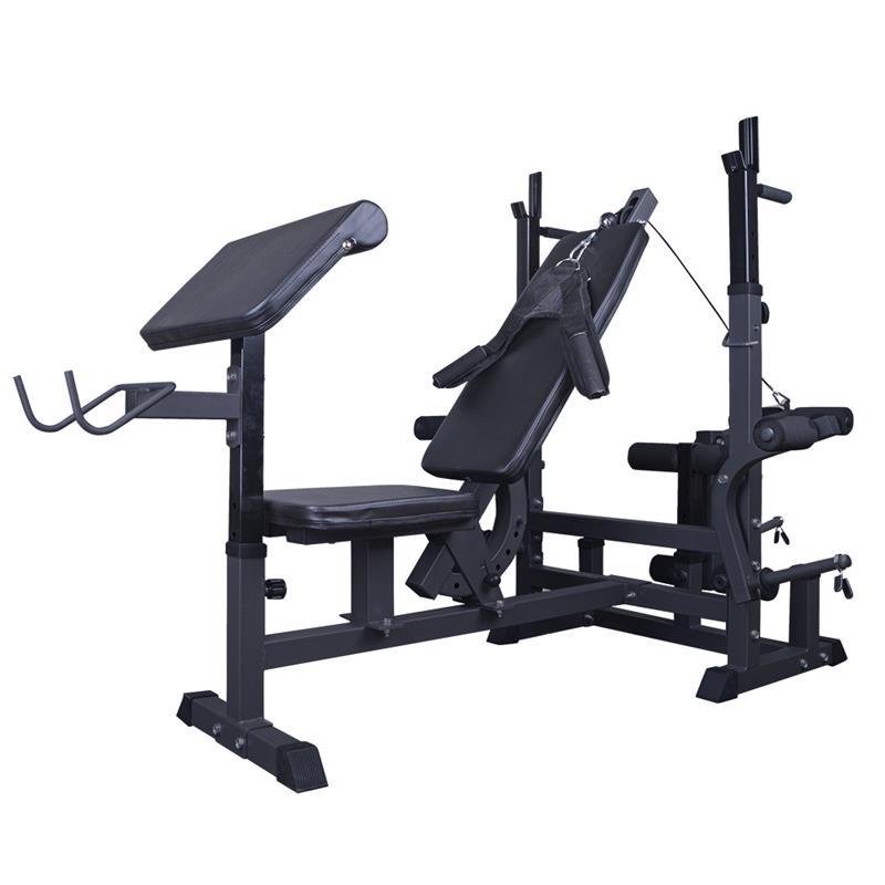 Profi-Trainingsbank mit 120 kg Hantelset MG