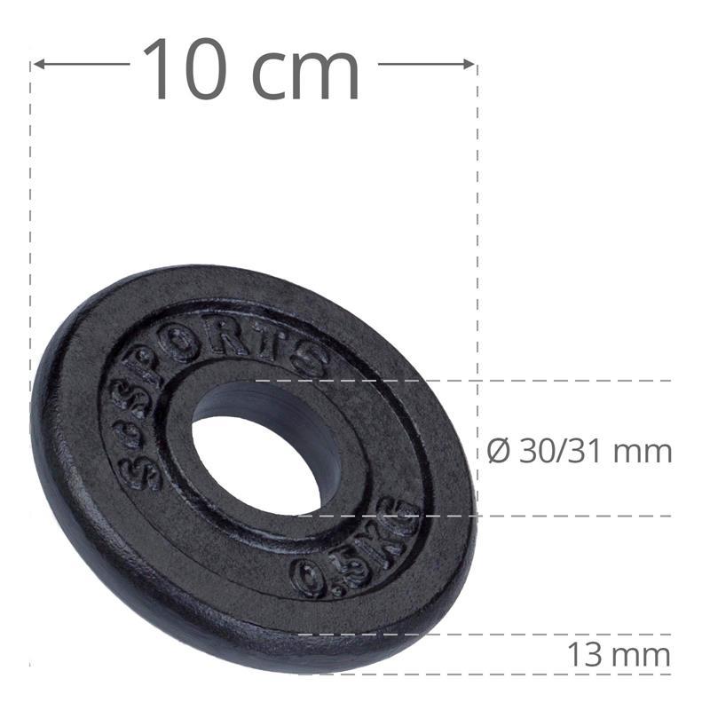 2 kg Hantelscheibenset Gusseisen 30 mm