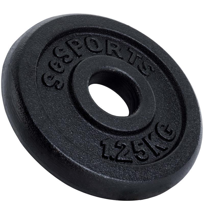 1,25 kg Halterschijf gietijzer 30 mm