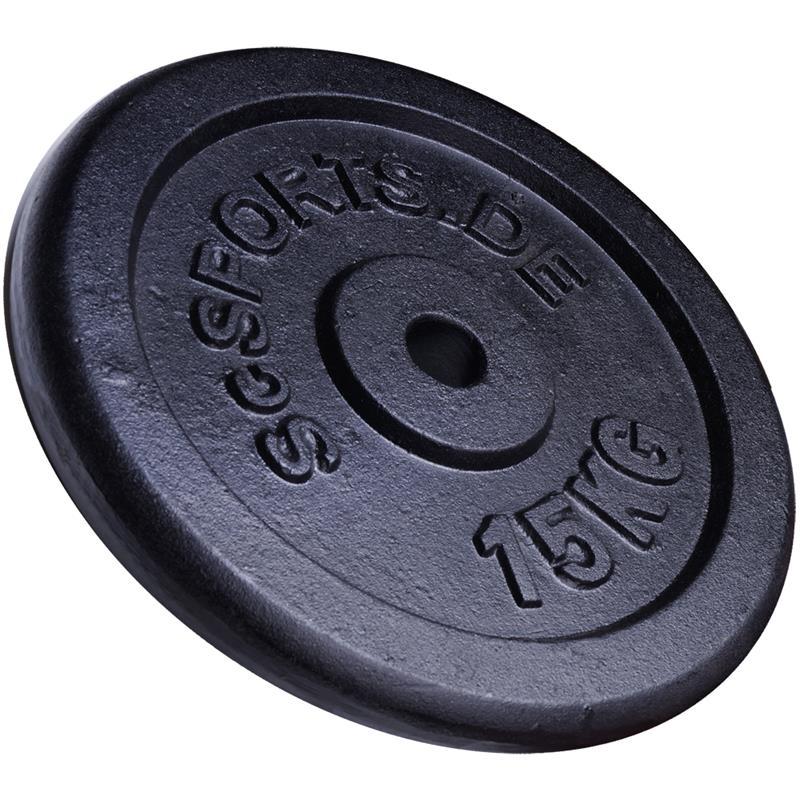 60 kg Hantelscheibenset Gusseisen 30 mm 2x5 2x10 2x15 kg