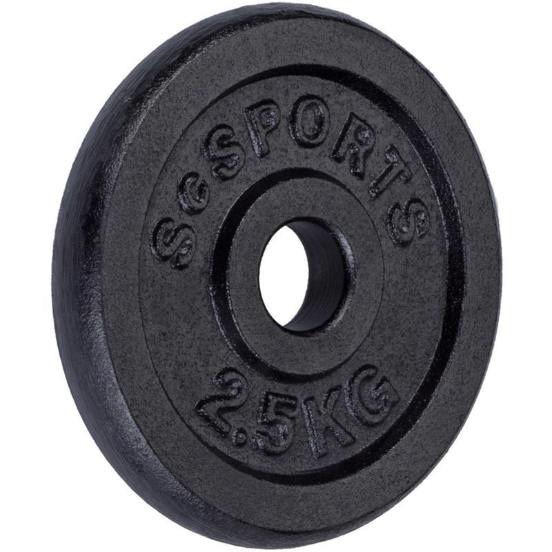 10 kg Halterschijven set gietijzer 30 mm 4x2,5 kg