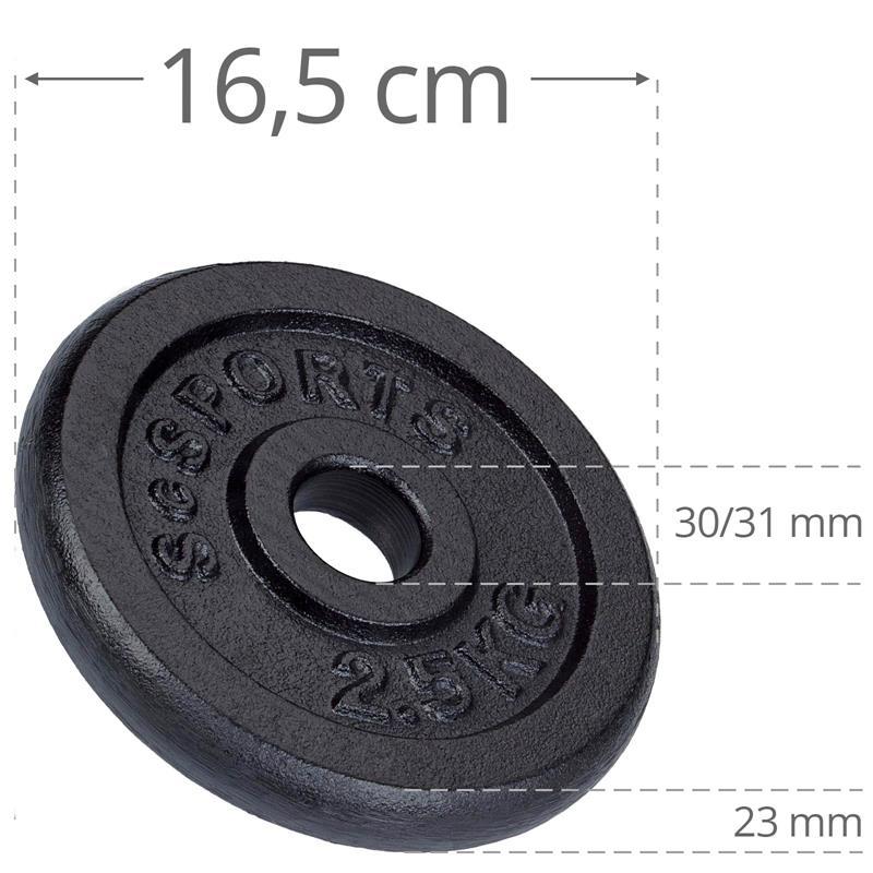 18,5 kg Hantelscheibenset Gusseisen 30 mm