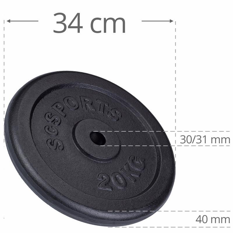 80 kg Hantelscheibenset Gusseisen 30 mm