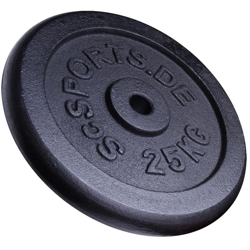 50 kg Hantelscheibenset Gusseisen 30 mm