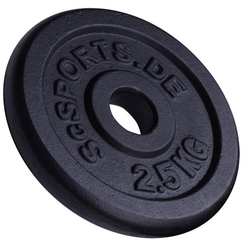 20 kg Hantelscheibenset Gusseisen 30 mm 8x2,5 kg