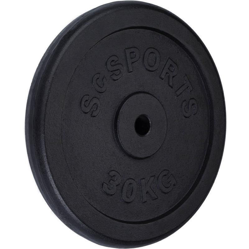 30 kg Halterschijf gietijzer 30 mm