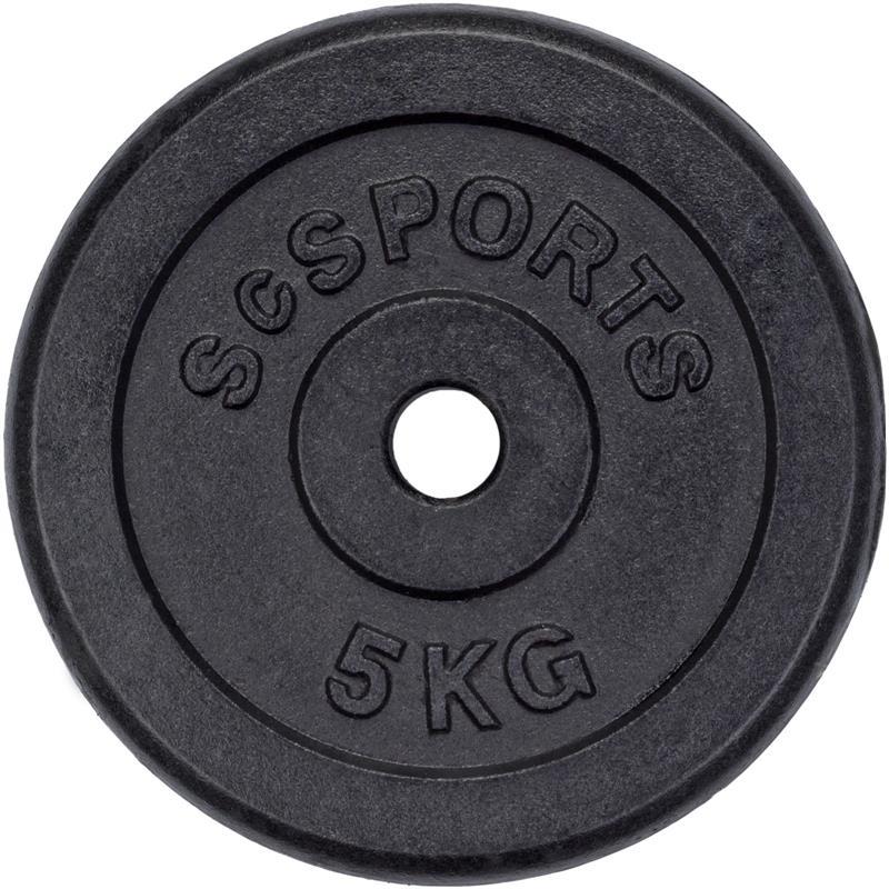 20 kg Halterschijven set gietijzer  - 30 mm 4x5 kg