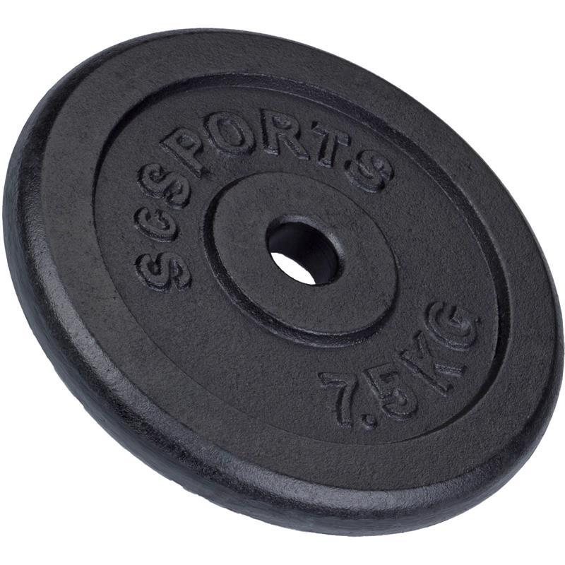 7,5 kg Hantelscheibe Gusseisen 30 mm