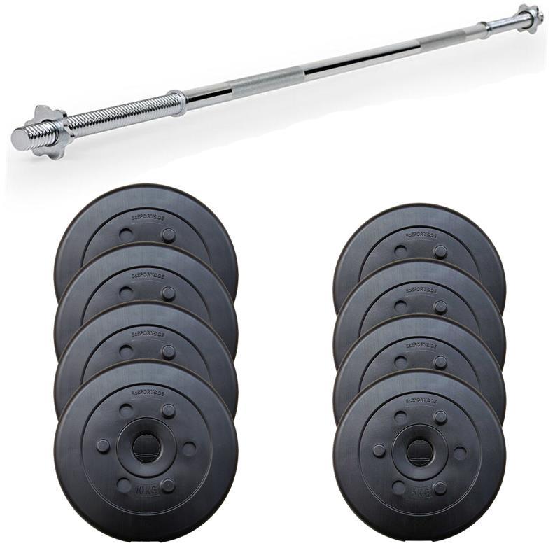 60 kg Langhantelset Kunststoff