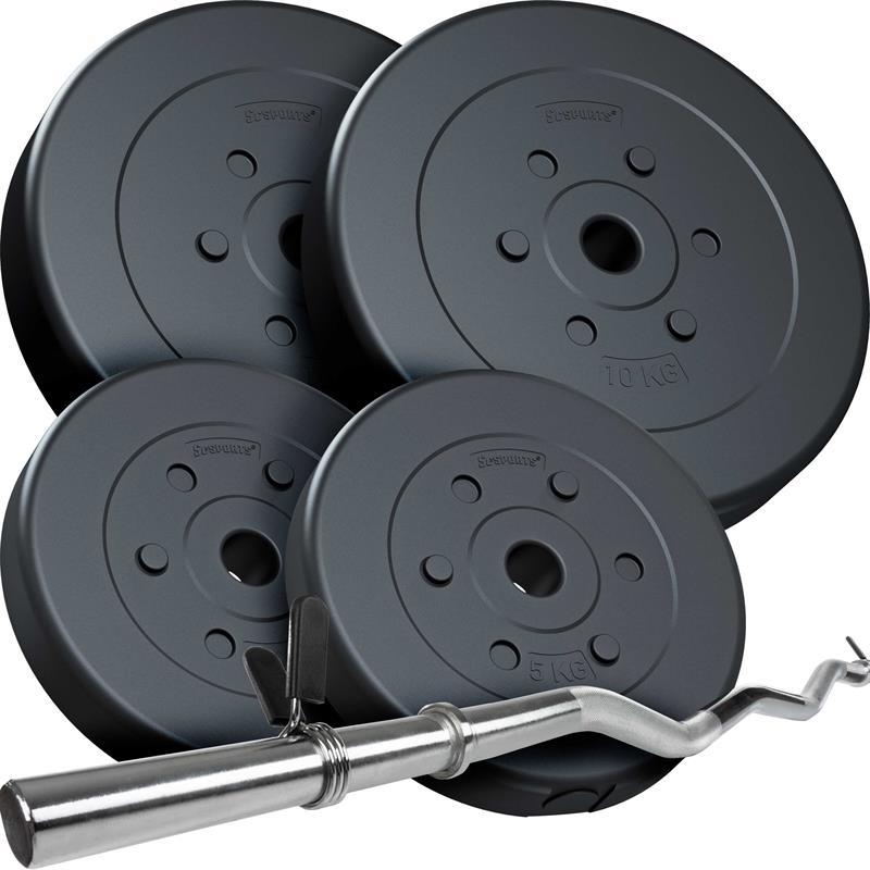 30 kg Curlhantelset Kunststoff 2x5 2x10 kg