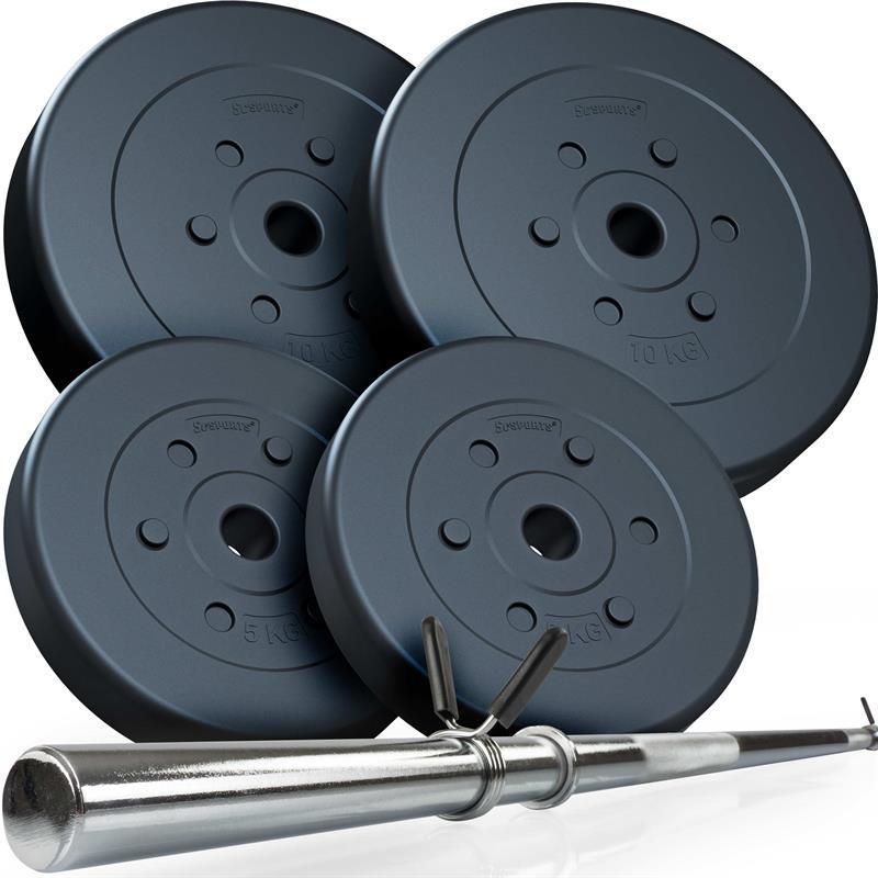 30 kg Langhantelset Kunststoff 2x5 2x10 kg