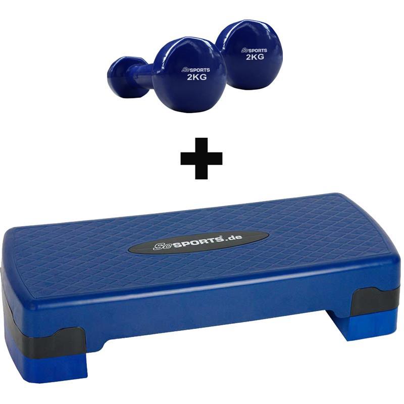 Aerobic Stepper Medium mit Vinylhanteln 2 kg