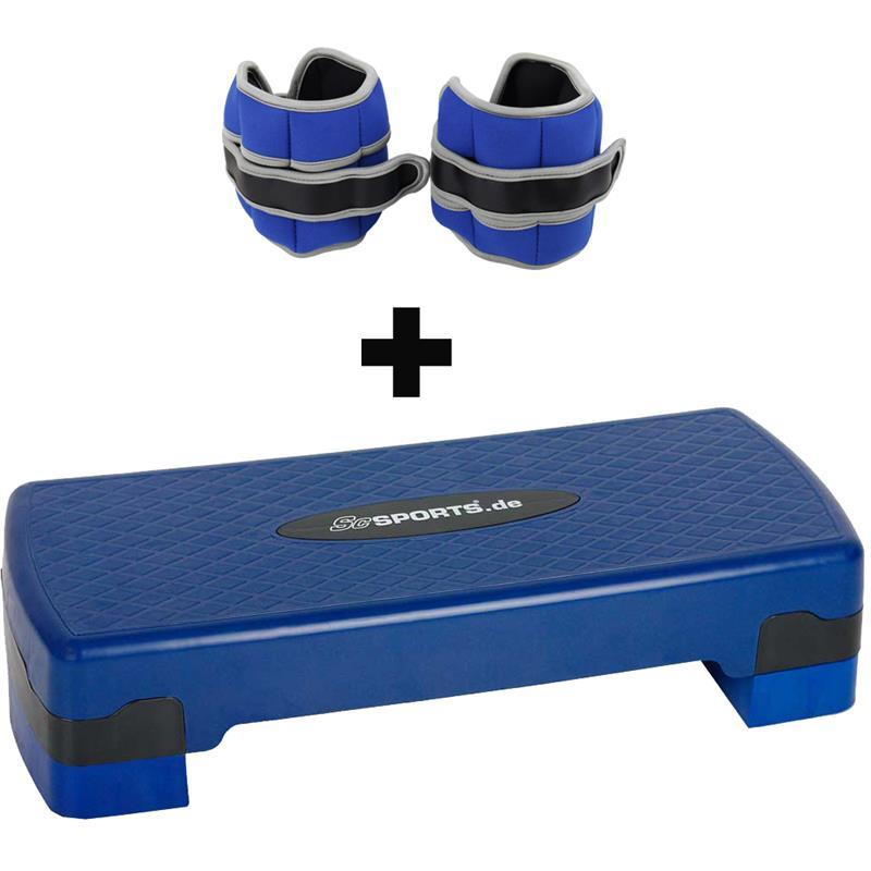 Aerobic Stepper Medium mit Gewichtsmanschetten 2 kg
