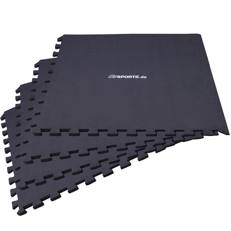 Puzzlematte Bodenschutzmatte 4er Set mit Rand