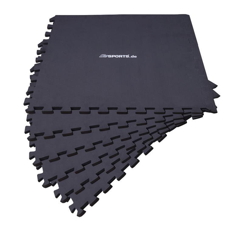 Puzzlematte Bodenschutzmatte 6er Set mit Rand
