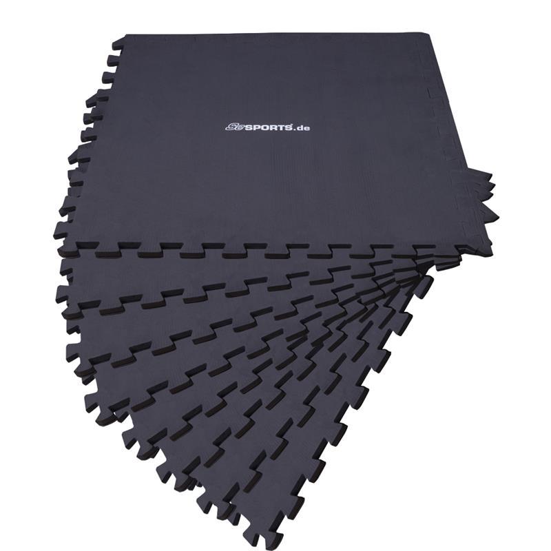 Puzzlematte Bodenschutzmatte 8er Set mit Rand