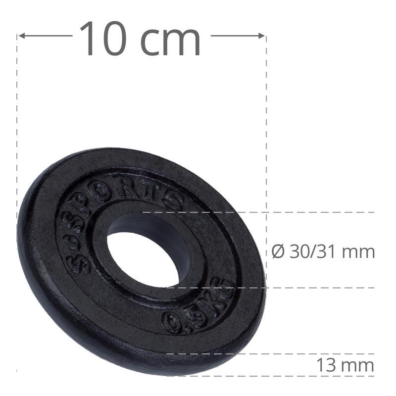4 kg Hantelscheibenset Gusseisen 30 mm